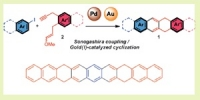 Precursors of linear polyacenes: entry door to new semi-conductor materials